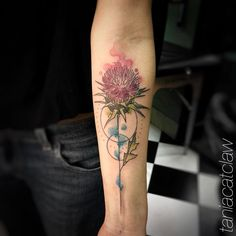 Floral forearm piece by Tania Catclaw