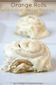 orange rolls with cream cheese frosting