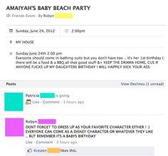 Baby Beach Party Drama