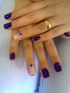 Egyptian nails with Strass