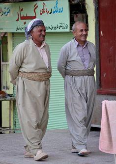 Iraqi People -Iraqi men strolling in Erbil, Iraq