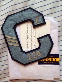 Rugby Ralph Lauren Patch, Skull, Nwt, Varsity Rare!