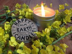 Aromatherapy Candle with lavender & ylang ylang from Happy Earth Candles Happy Earth, Aromatherapy Candles, Interior Inspiration, Candle Jars, Beautiful Things, Lavender, Wax, Laundry