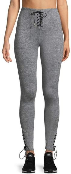 88e14c0439c944 ***ON SALE NOW*** These are ELECTRIC YOGA Women's Criss-Cross Tie Leggings  Self-tie waist, Back zipper detail, Tonal topstitching and panel seaming.