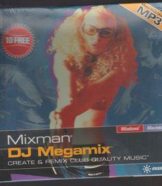 Mixman DJ Megamix Create & Remix Club Quality Music New(2000) see pics