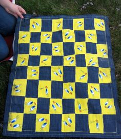 "Our ""Tweety"" CHECKERBOARD to match the outdoor/indoor Hopscotch Mat...great for party time!!"