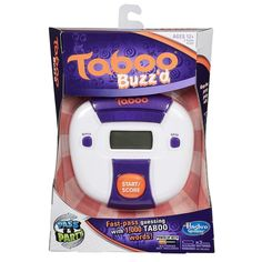 Hasbro Taboo Buzz'd Electronic Hand Held Fast Pass & Party Game 1000 Words NEW #Hasbro