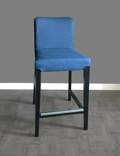 IKEA HENRIKSDAL Bar Stool Chair Cover Solid Blue by RockinCushions : ikea bar stool covers - islam-shia.org