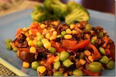 Raw wild rice salad from Chossing Raw #school