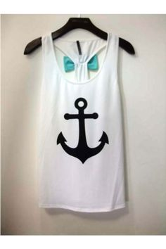 FIRST MATE White Mint Green Bow Back Anchor Top Shop Simply Me Boutique – Simply Me Boutique