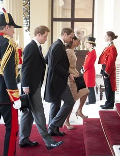 Harry, William & Kate - Alexander McQueen Beige Lace Dress National Service Of Thanksgiving at St Paul's Cathedral 5 June 2012
