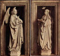 VAN EYCK Jan van Eyck: Flemish painter (Maaseik? ca. 1390 - Brugge 1441) - THE ANNUNICATION