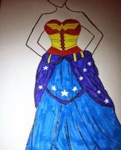 Musings: Yes I Made That Dress: Wonder Woman I finished a Wonder Woman dress for my partner this weekend, here's the details on how I made it, complete with a lot of pictures.