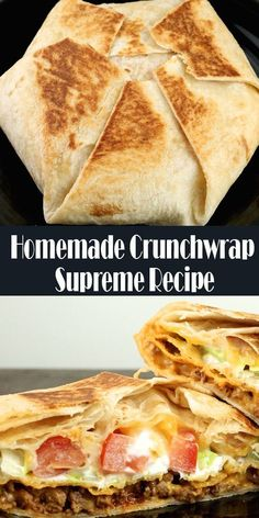 Crunchwrap Recipe, Homemade Crunchwrap Supreme, Grilling Recipes, Beef Recipes, Cooking Recipes, Hibachi Recipes, Taco Bell Recipes, Crunch Wrap Supreme Recipe, Outdoor Griddle Recipes