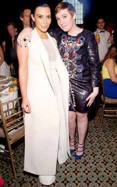 Kim Kardashian and Lena Dunham powwowed at Variety¹s Power of Women New York event at Cipriani in NYC April 24.