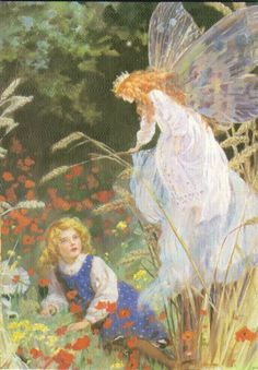"""Queen of Fairies"""" by Percy Tarrant. Modern reproduction postcard by The Medici Society, London"""