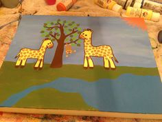 Giraffe Canvas  getcraftywithit.com