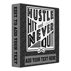 Field Hockey Hustle Hit & Never Quit 3 Ring Album Binder