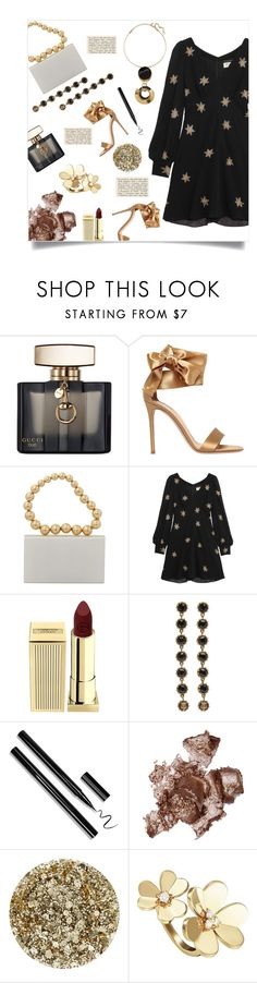 """""""Dreamy Dress"""" by simpleautumn on Polyvore featuring Gucci, Gianvito Rossi, Charlotte Olympia, Yves Saint Laurent, Lipstick Queen, By Terry, Smith & Cult, Van Cleef & Arpels, Marni and dreamydresses"""