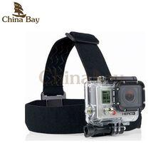 Elastic Adjustable Head Strap belt Mount For EKEN h9/h9r series Go pro Hero 4 3 2 and sj4000 series with anti-slide glue