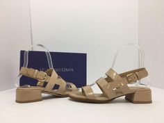 Stuart Weitzman Barrio Women's Heels Size 5 M Adobe Aniline Nude Patent Leather Sandals. Get the must-have sandals of this season! These Stuart Weitzman Barrio Women's Heels Size 5 M Adobe Aniline Nude Patent Leather Sandals are a top 10 member favorite on Tradesy. Save on yours before they're sold out!