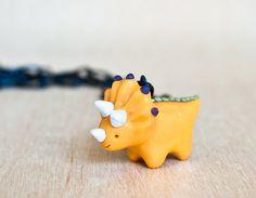 TriceraTilda  handmade clay dinosaur by littlelampsculpture, $30.00