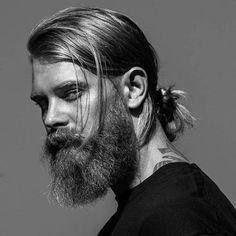 Low Man Bun with Beard