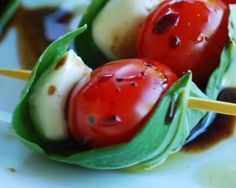 Caprese Salad - on a stick!!