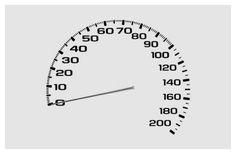 Chevy Corvette (2003) speedometer design
