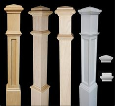 Red Oak Newel Posts Newels can be cut to fit most rail height Well constructed newels Unfinished - Ready to be stained Add elegance & value to your stairway with red oak newel posts Stair Railing Parts, Iron Stair Balusters, Iron Staircase, Wrought Iron Stairs, Parts Of Stairs, Metal Stairs, Staircase Design, Indoor Railing, Iron Spindles