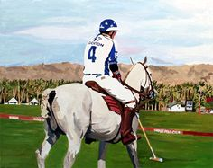 "new commissioned painting ""Empire Polo Club"" acrylic on canvas, 24"" x 30"""