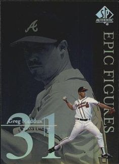 1999 SP Authentic - Epic Figures #E6 Greg Maddux  Front Braves Baseball, Baseball Cards, Greg Maddux, Bring Me To Life, Atlanta Braves, Trading Cards, Game, Venison, Games