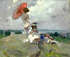 Martha Walter - Pink Umbrella,