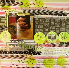 Inking up a Background~ Scrapbook Page