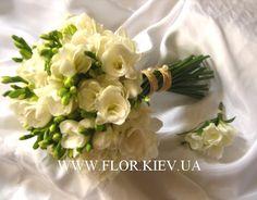 нежный свадебный букет из фрезий - Поиск в Google