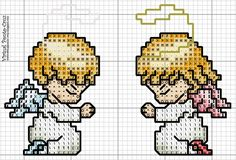 cross stitch angels n~ such cuteness! Cross Stitch Fairy, Cross Stitch Angels, Cross Stitch Cards, Counted Cross Stitch Patterns, Cross Stitch Designs, Cross Stitching, Cross Stitch Embroidery, Image Clipart, Art Clipart