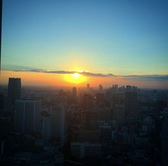// Sunset from the hotel #AndazTokyo #Tokyo #Japan