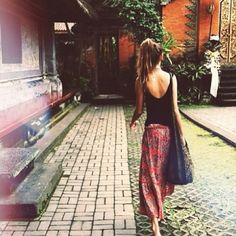 Long skirts are perfect for almost any country. Just make sure to cover your shoulders!