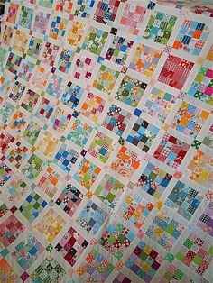 Scraptastic postage stamp quilt!! Beautiful!! Two inch squares..