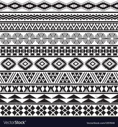 Vector image of Tribal striped seamless pattern Vector Image, includes background, pattern, retro, seamless & vintage. Illustrator (.ai), EPS, PDF and JPG image formats.