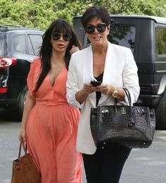 Kim Kardashian and Kris Jenner Photos - The Kardashian Family Goes ...