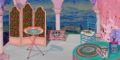 Presenting Gucci Décor, a collection of furniture and decorative pieces. Graphic Wallpaper, Paper Wallpaper, Print Wallpaper, Illustrations, Illustration Art, Kitsch, 2017 Decor, Designer Wallpaper, Home Collections