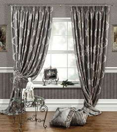 Шторы для гостиной или спальни: Лувр (арт. BL01-27-03)  -  (240х270)х2 см. - (Возможна высота 250 см.) - серые