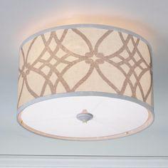 Trellis Linen Drum Shade Ceiling Light $179 shades of light