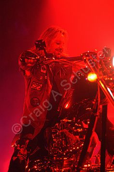 Vince Neil Official and his Custom Motorcycle on the Motley Crue New Years Eve 2005 Show. #vinceneil #motleycrue