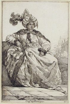 "Chef des Eunuques (head of the Eunuchs), from the series ""Caravane du Sultan à la Mecque..."" (Caravan of a Sultan Going to Mecca)"