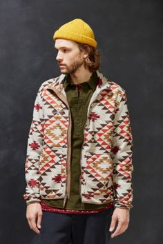 Without Walls Melange Printed Zip-Up Jacket - Urban Outfitters