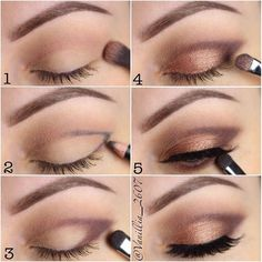 Soft Bronze Eyeshadow Effect