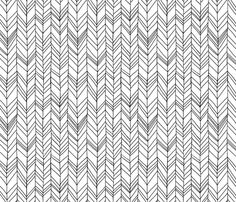 Featherland White/Black fabric by leanne on Spoonflower - custom fabric