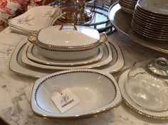 Vintage Mid-Century Set of Fine China by Epiag by FMFCompagnie